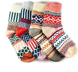 3-5 Pairs Womens Multicolor Fashion Warm Wool Cotton...