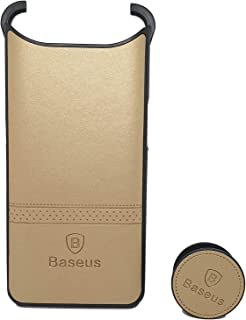 Leather Cover Case With Holder For Samsung Galaxy A80 By Baseus - Gold