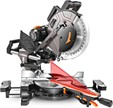 TACKLIFE Sliding Miter Saw, 12inch 15Amp Double-Bevel Sliding Compound Miter Saw with Laser, Crosscutting Miter Saw, 3800r...