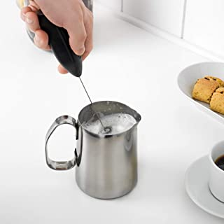 Milk Foam Maker for Coffee Latte, Cappuccino, Hot Chocolate, for Hot and Cold Milk, Stainless Steel Whisk