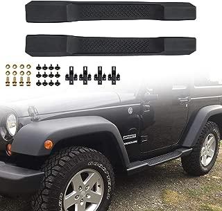 Excl 2018 JL Models JK Unlimited 4 Door Textured Step Boards Side Steps Nerf Bars Side Guard Black Powder Coating Finishing AUTOSAVER88 Running Boards Compatible for 2007-2018 Jeep Wrangler JK
