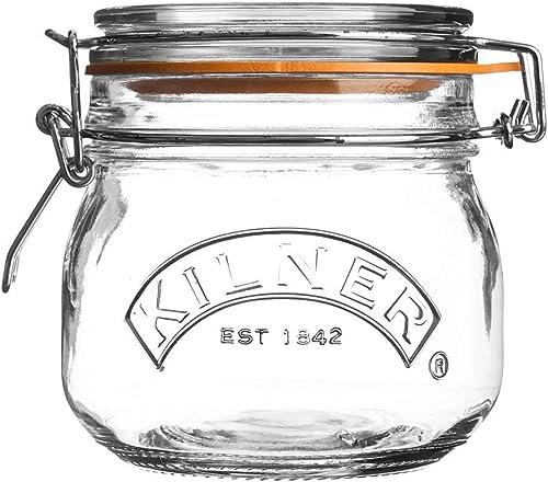 Kilner Round Clip Top Jar, 500ml, Transparent 01637