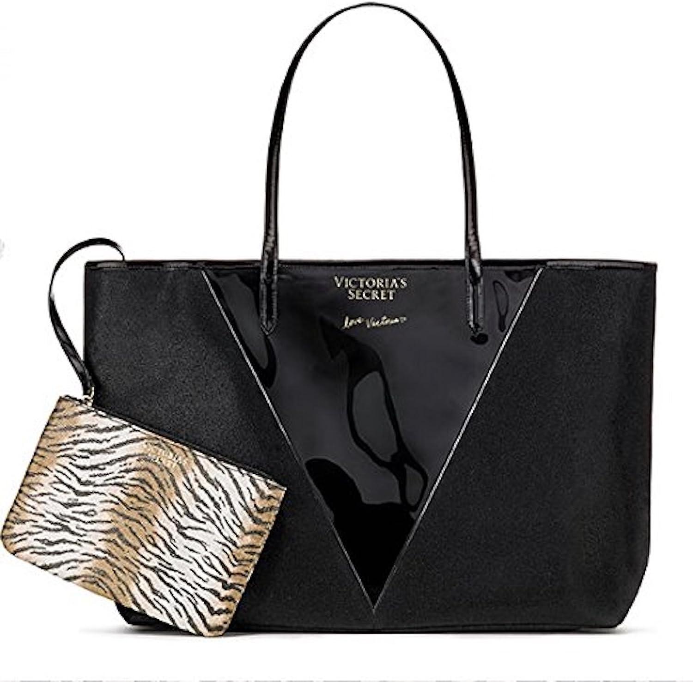 Victoria's Secret Limited Edition Tote Bag, Detachable Pouch, Black
