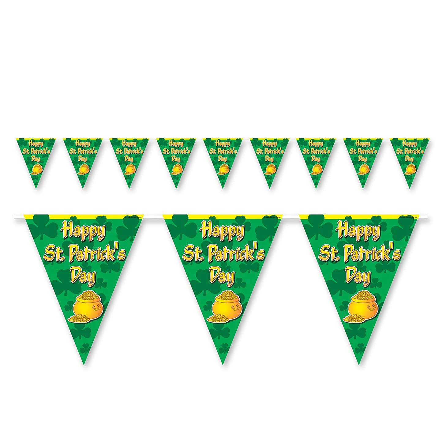Happy St Patricks Day Pennant Banner Party Accessory (3-Pack)