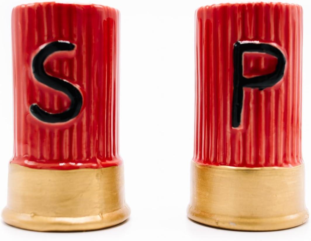 Caliber Gourmet Shotgun Shell Style Set Popular Shakers and Pepper Bargain Salt