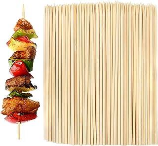 Aneco 1000 Piezas de Pinchos de bambú Natural Palillos para Barbacoa, brochetas, Kabobs, Fiesta Essentials 6