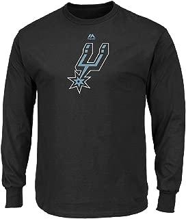 Majestic Athletic San Antonio Spurs NBA Men's Logo Long Sleeve Black