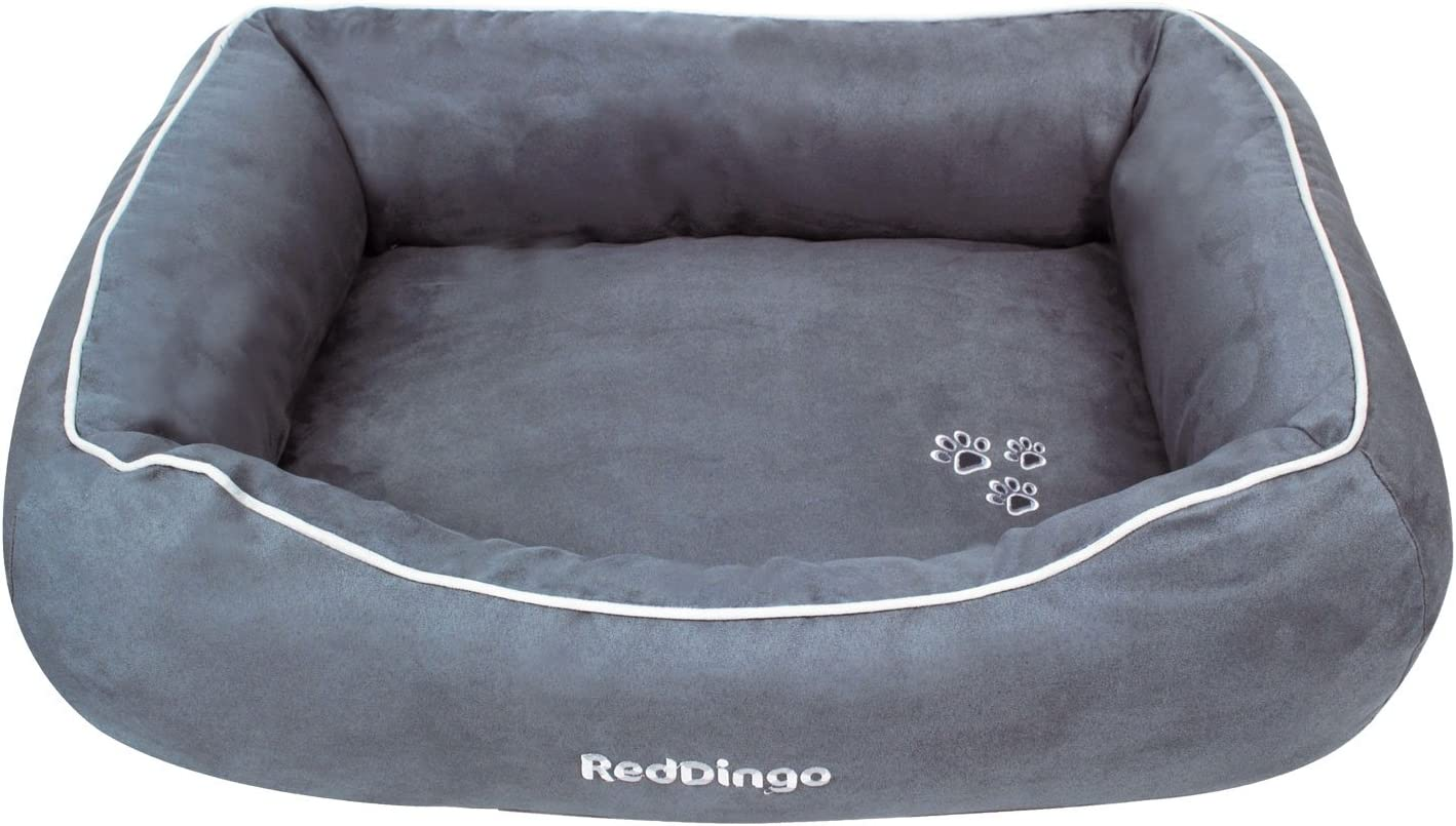 Red Dingo Padded Max 58% OFF Basket Quantity limited Dog Grey.