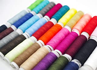 39 Colors Sewing Threads, 200 Yards Polyester Thread for Hand Machine Sewing, Thread Spools Sewing Machine Embroidery Sewing Supplies for Beginners Adults