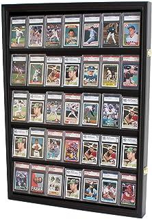 قاب محافظ کارت ورزشی 35 درجه ای قابل قفل ، برای کارت های کلکسیونی کمیک فوتبال ، بیس بال ، بسکتبال ، هاکی (پایان عمودی - سیاه)