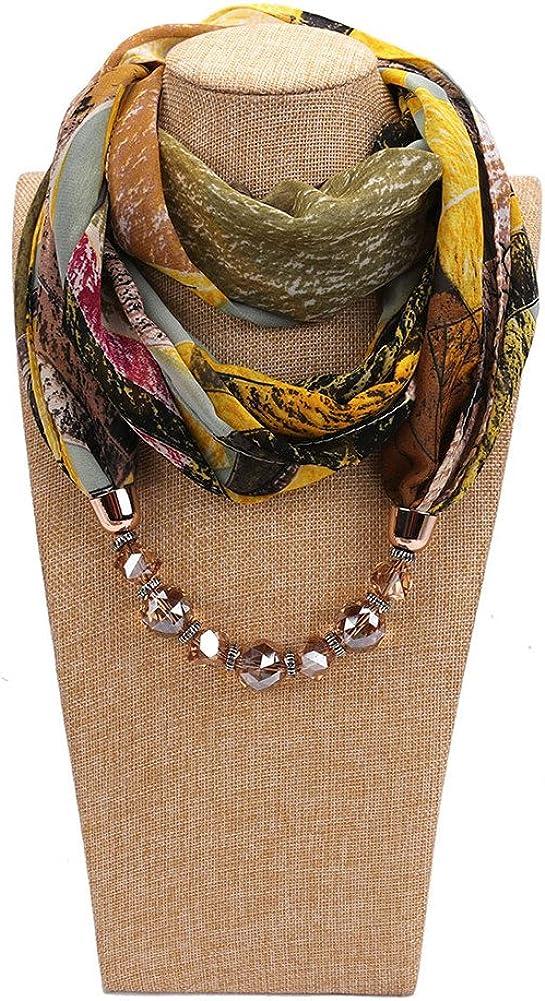 RICHTOER Muslim Scarf Summer Lightweight Chiffon Scarf Necklace Scarves For Women
