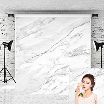 Little Lucky 7x5ft Black Marble Backdrop Black Natural Stones Photography Background Photographer Portrait Shoot Marble Pattern Backdrops for Photo Video Studio Prop