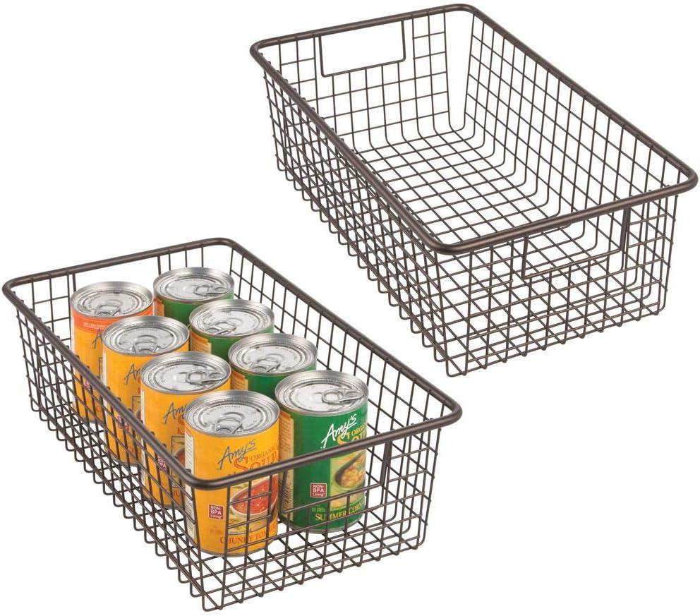 mDesign Modern Farmhouse Metal Safety and trust Wire Storage Basket Bin Organizer Max 51% OFF