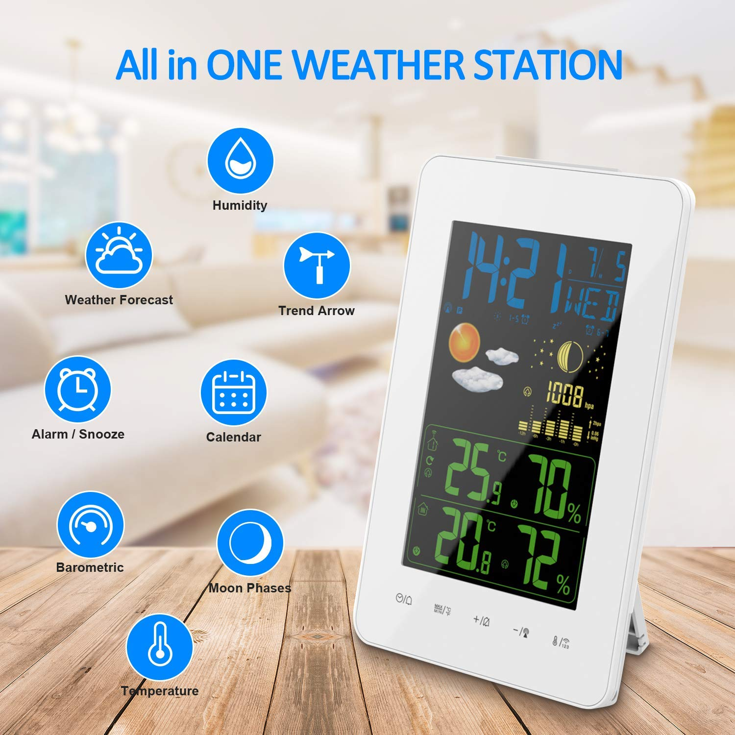 Oritronic Wireless Weather Station Digital Forecast Station Indoor Outdoor Thermometer With Remote Sensor Clock Trend Temperature And Humidity Amazon Sg Lawn Garden
