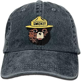 XianNonG Smokey The Bear Keep It Green Men's Black Adjustable Vintage Washed Denim Baseball Cap Dad Hat Trucker Cap