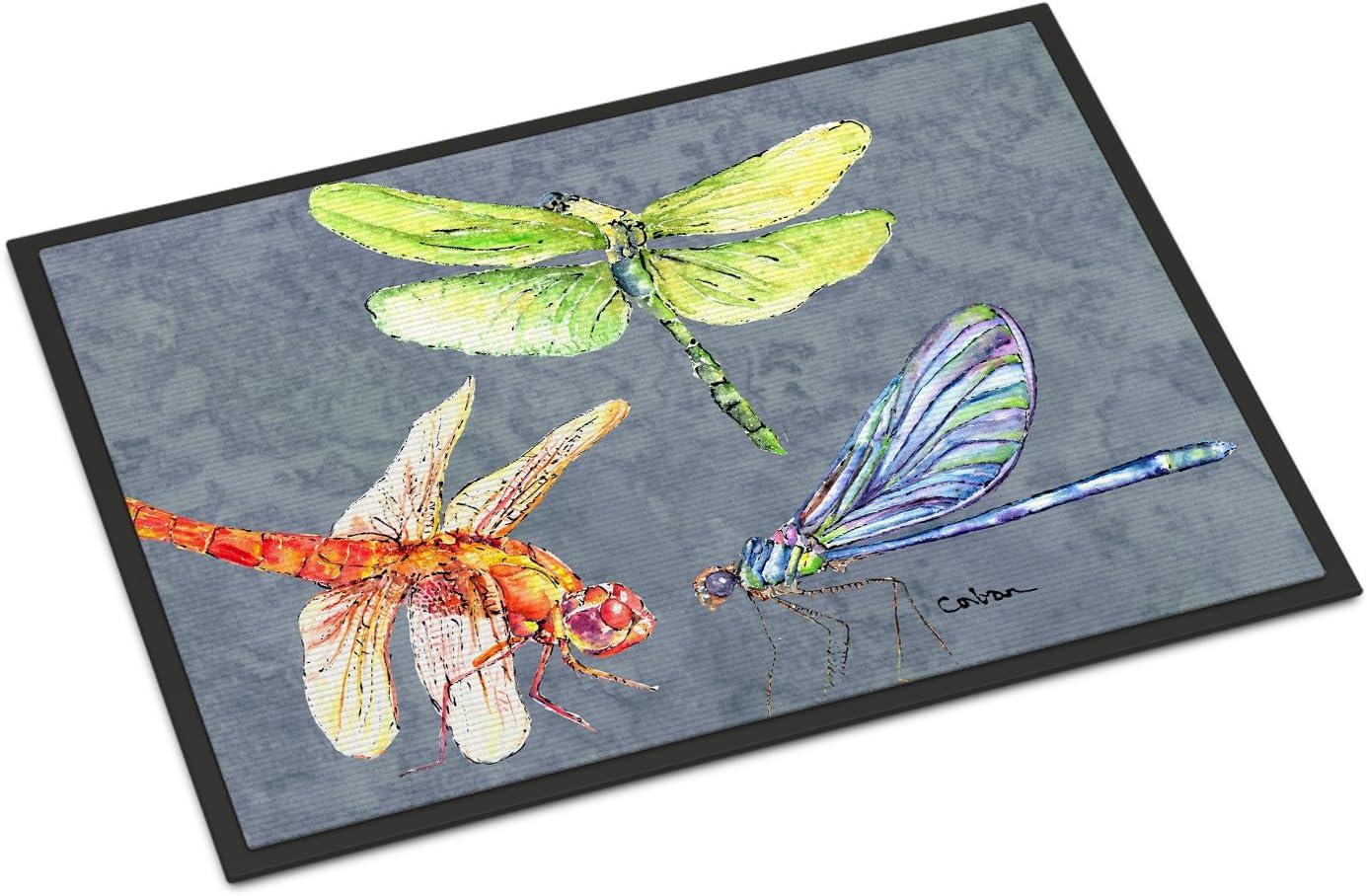 Caroline's Treasures Genuine Selling rankings 8878JMAT Dragonfly Times or Ou Indoor Three