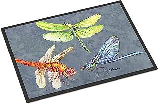 Caroline's Treasures 8878JMAT Dragonfly Times Three Indoor or Outdoor Mat 24x36 Doormat, 24H X 36W, Multicolor