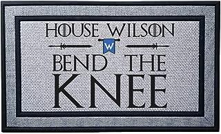 Personalized Bend The Knee Heavy Duty Door Mat, Indoor/Covered Entry Custom Bend The Knee Doormat