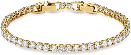 SWAROVSKI Women's Tennis Deluxe Jewelry Collection, Clear Crystals