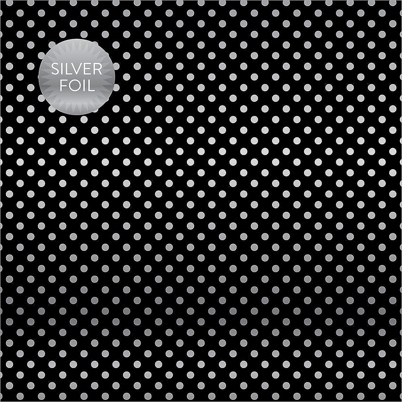 Echo Park Paper CBFS206 Foiled Dots & Stripes Cardstock (15 Sheets Per Pack), 12