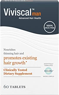 Viviscal Man Hair Growth Supplements, Drug-Free Alternative Treatment to Nourish Thinning Hair for Less Shedding and Thick...