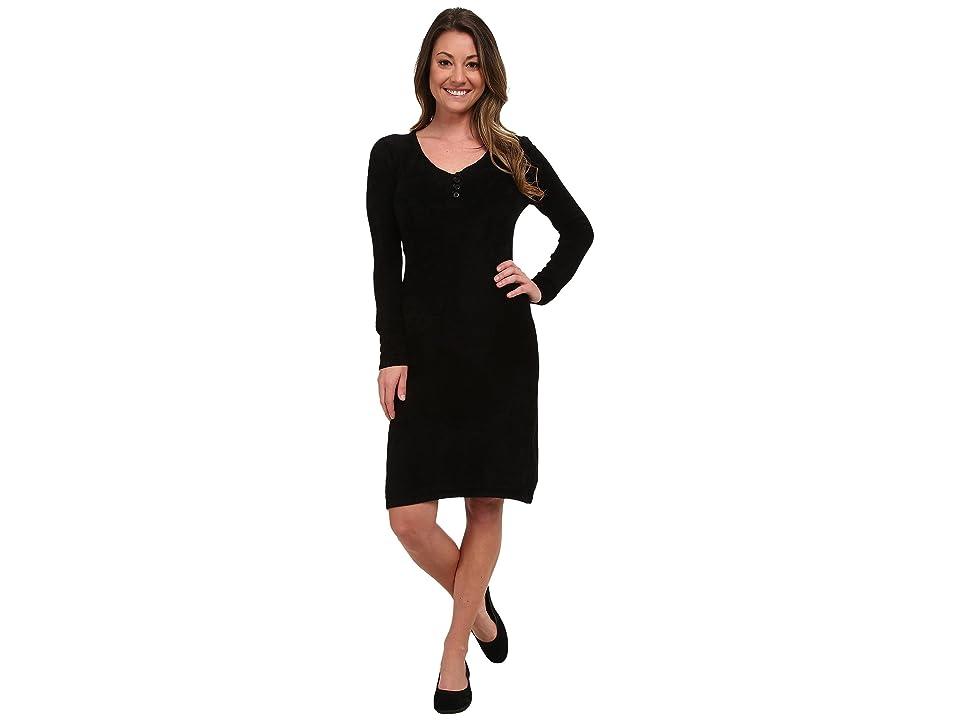Royal Robbins Voyage Long Sleeve Dress (Jet Black) Women