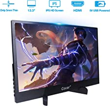 $139 » 13.3 inch Portable Gaming Monitor IPS Screen Super Thin Metal Casing HD 1920x1080P 5mm Display for PC Laptop Movie PS4 XBox DVD Dual HDMI 5V USB TYPE-C Powered LED Backlight Built-in Speaker Audio Out
