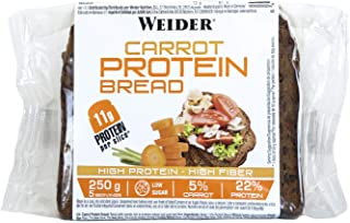 comprar comparacion Weider Pan Proteico con 11g de proteína y un 5% de zanahoria por rebanada. Con mucha fibra y bajo en azúcares. (5x250 g)