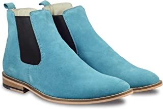 Chelsea Boots buy 6 Inches Pure Turquoise Suede leather Chelsea boots Online at factory prices. Article : Chelsea06 Size A...