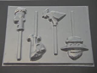 Phineas and Ferb Chocolate Candy Lollipop Mold