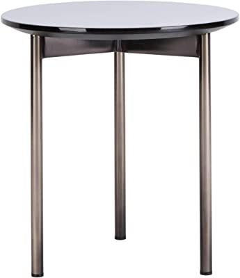 Safavieh Couture Home Ninibel Modern Ebony Round End Table