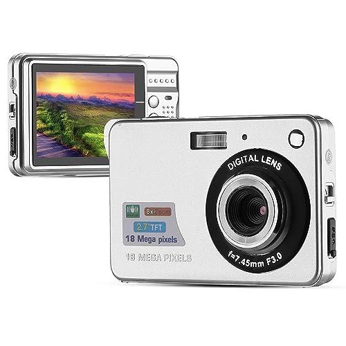PowerLead Mini Appareil Photo Numérique HD, Ecran LCD 2,7 pouces (Argent)