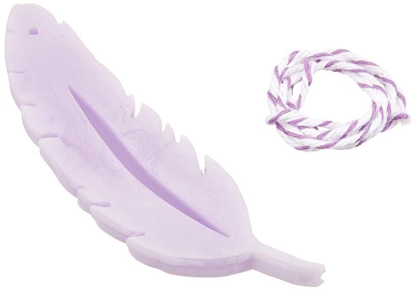 ウィンク解説薬を飲むGRASSE TOKYO AROMATICWAXチャーム「羽」(PU) ラベンダー アロマティックワックス グラーストウキョウ