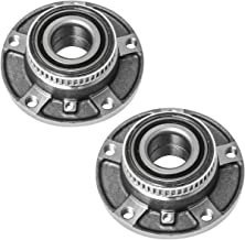 TUCAREST 513125 x2 (Pair) Front Wheel Bearing and Hub Assembly Compatible With 1992-2000 BMW Series E36 98-05 E46 91-95 E34 92-94 E32 [5 Lug]