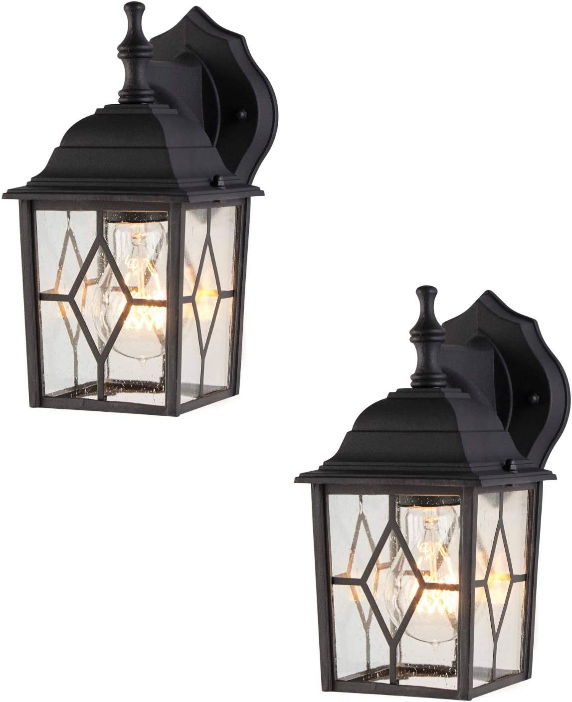 NOMA 2-Pack Outdoor Wall Waterproof Rapid rise Down-Facin Lantern Los Angeles Mall