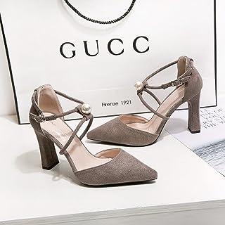9fc1b5a81f43 ZHZNVX La lumière de la petite fille sandales high-heeled satin épais avec  embout minimaliste