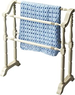 Quilt Racks - Plymouth Blanket Rack - Quilt Rack - Cottage White Finish - Accent Furniture