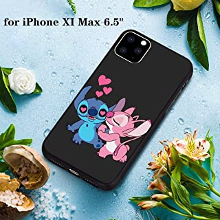 DISNEY COLLECTION PC and TPU Case iPhone 11 Pro Max 6.5 Inch Stitch and Angel