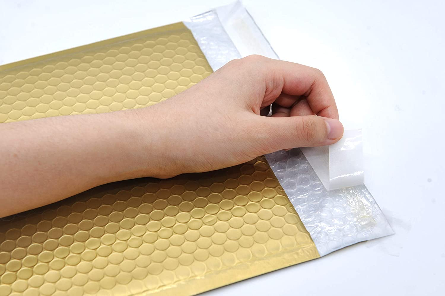 ProLine Matte Metallic Gold Bubble Padded Mailers 8.5x12 Inch Self Seal Padded Envelopes 100