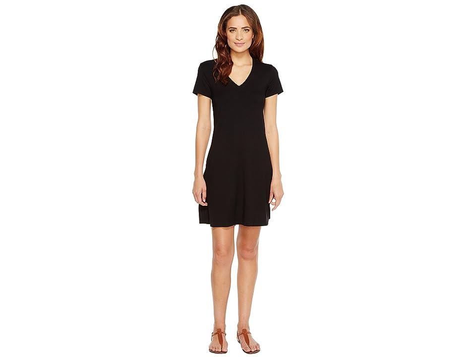 Karen Kane Quinn V-Neck Pocket Dress (Black) Women