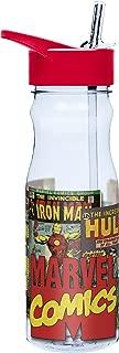 Zak Designs Marvel Comics 25 oz. Water Bottle with Straw, Iron Man & Incredible Hulk