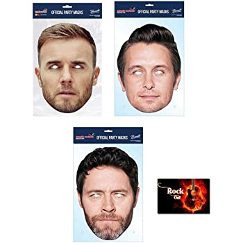Robbie Williams Take That Celebrity Card Mask Fully Cut With Elastic /& Fittings