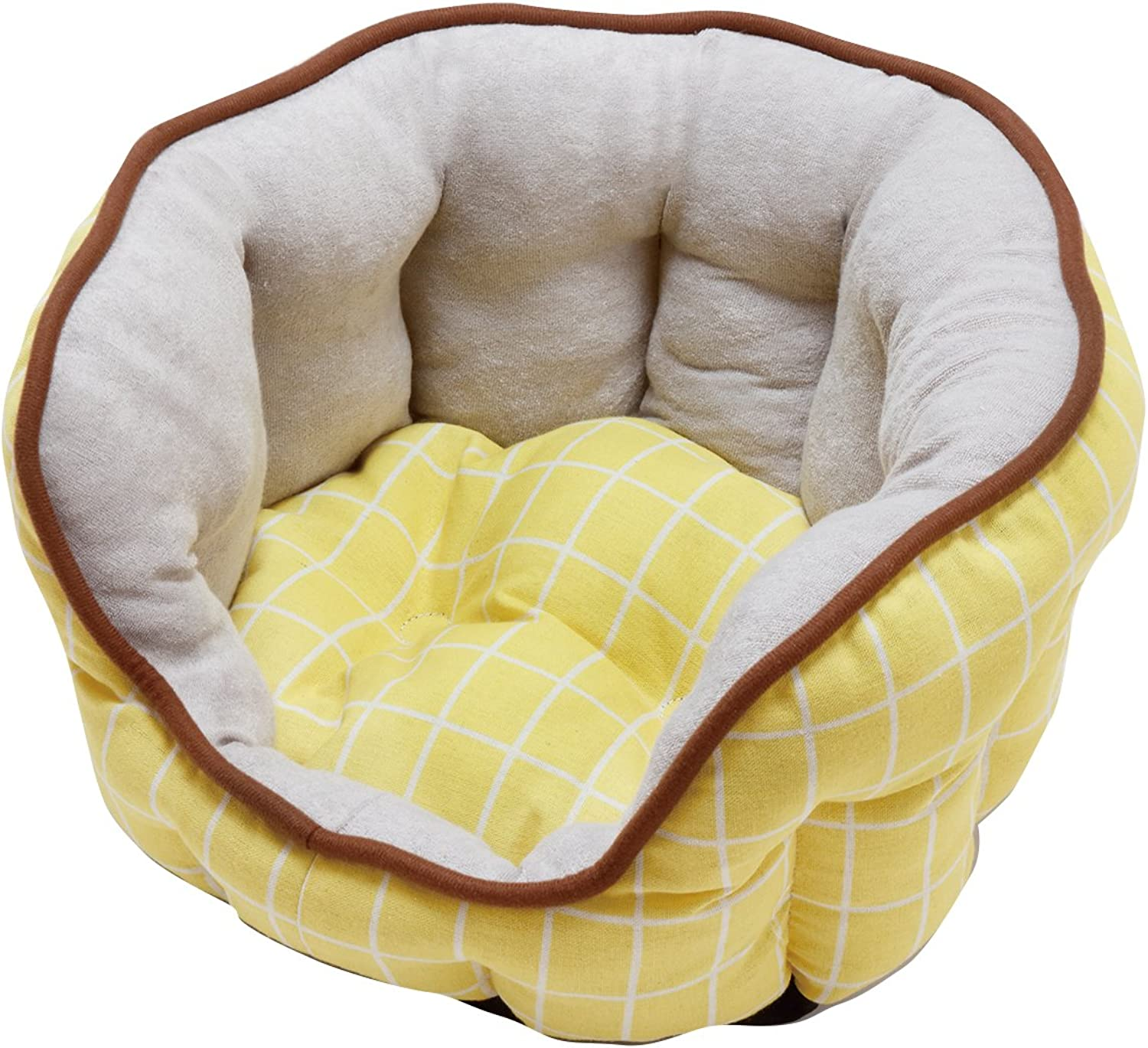 Petio ADD. MATE Cuna oval bed [S Yellow] (Japan Import)
