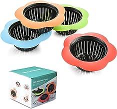 Plastic Sink Strainer, Silicone Kitchen Sink Strainer, Easy Clean Sink Drain Filter Basket, Kitchen Sink Basket Strainer(4 Pack, Multicolored)