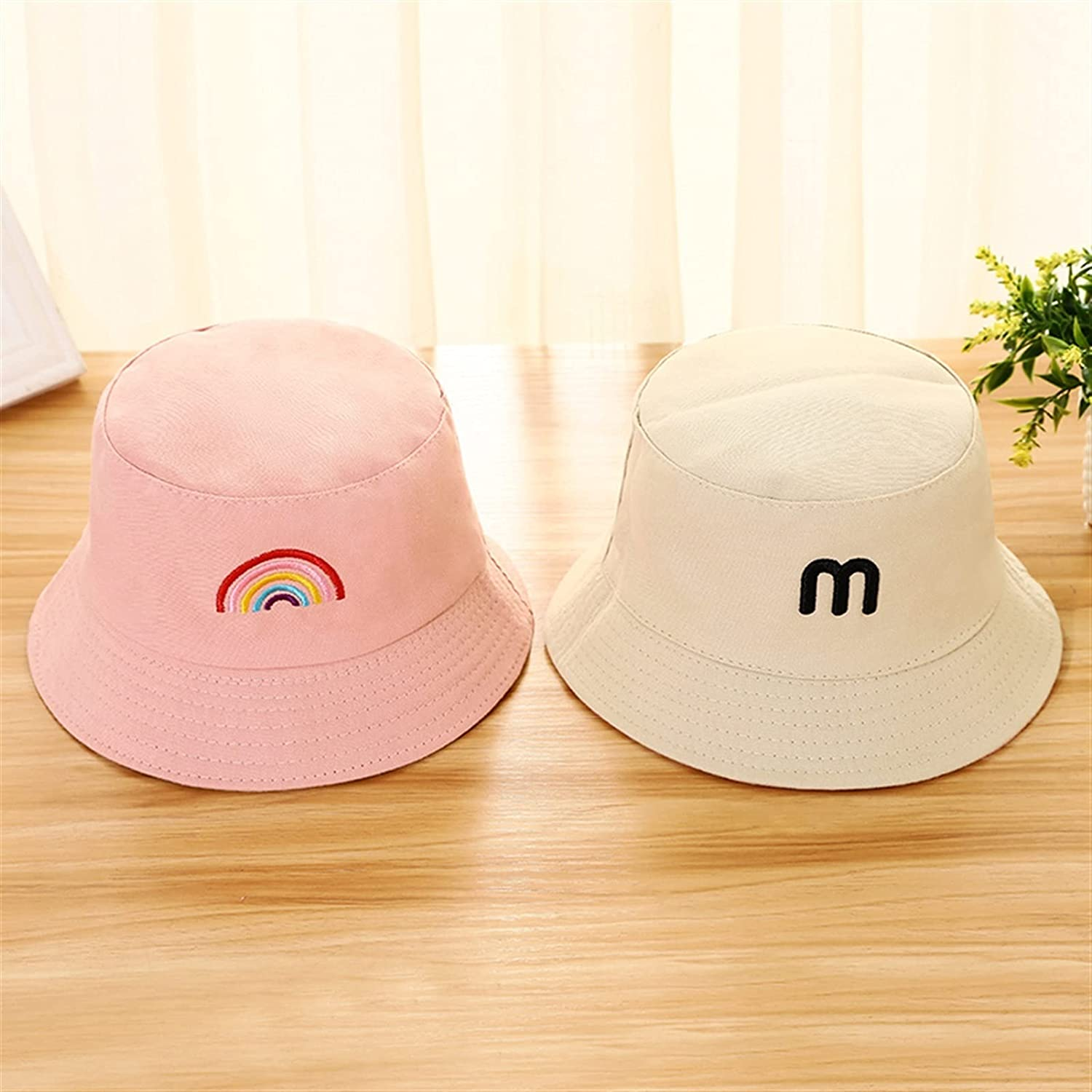 Summer Baby Hat Double Sided Embroidery Rainbow Milwaukee Mall Bucket Under blast sales B for
