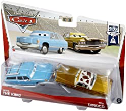 Disney Pixar Cars Mrs. The King and Tex Dinoco Diecast Vehicle, 2-Pack