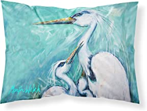 Caroline's Treasures MW1159PILLOWCASE Mother's Love White Crane Moisture Wicking Fabric Standard Pillowcase, Large, Multicolor