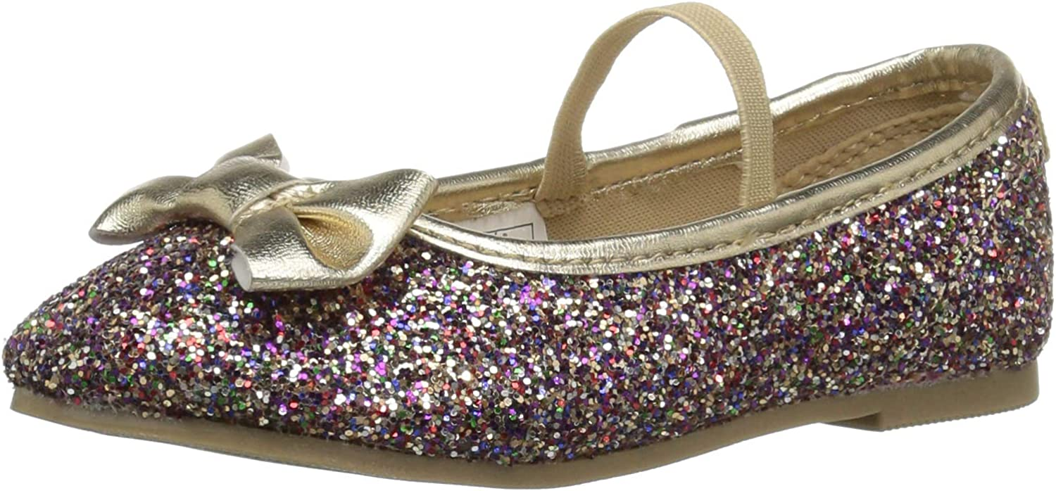 Carter's Unisex-Child Girl's Seattle Max 53% OFF Mall Bigbow5 Multi Flat Ballet