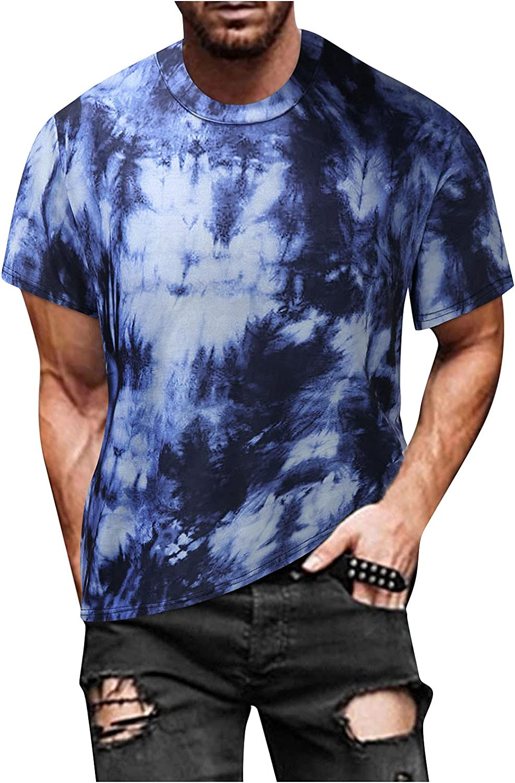 YANFANG Blusa Superior De Camiseta Manga Corta Estampada Informal Ajustada Verano para Hombre,Print tee Hombre, Hombre PoliéSter