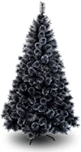 WSJTT Seasonal Décor Christmas Trees Artificial Christmas Tree Black Artificial Laser Branch Tips Pine Tree Snowy Xmas Tre...